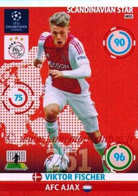 2014-15 - Adrenalyn XL champions League N° NE05 - Viktor FISCHER (AFC Ajax) (Scandinavian Star)