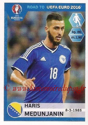Panini Road to Euro 2016 Stickers - N° 026 - Haris MEDUNJANIN (Bosnie Herzégovine)
