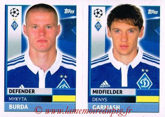 2016-17 - Tops UEFA Champions League Stickers - N° DYN 12-13 - Denys GARMASH + Mykyta BURDA (FC Dynamo Kiev)