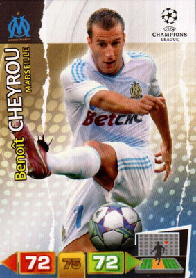 2011-12 - Panini Champions League Cards - N° 196 - Benoît CHEYROU (Olympique de Marseille)