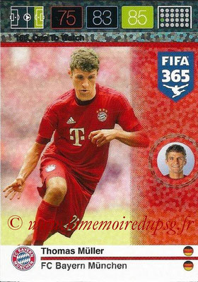 2015-16 - Panini Adrenalyn XL FIFA 365 - N° 168 - Thomas MÜLLER (FC Bayern Munich) (One to Watch)