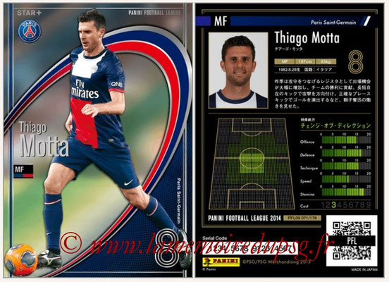 Panini Football League 2014 - PFL08 - N° 071 - Thiago MOTTA (Paris Saint-Germain) (Star+)
