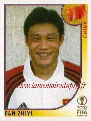 2002 - Panini FIFA World Cup Stickers - N° 212 - Fan ZHIYI (Chine)