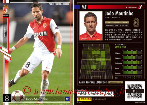 Panini Football League 2015 - PFL12 - N° 060 - Joao MOUTINHO (AS Monaco)
