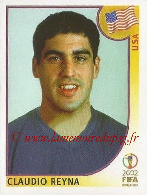 2002 - Panini FIFA World Cup Stickers - N° 289 - Claudio REYNA (Etats-Unis)