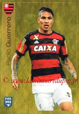 2015-16 - Panini FIFA 365 Stickers - N° 209 - Paulo GUERRERO (CR Flamengo)