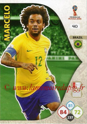2018 - Panini FIFA World Cup Russia Adrenalyn XL - N° 040 - MARCELO (Brésil)