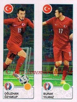 Panini Euro 2016 Stickers - N° 430 - Oguzhan OZYAKUP + Burak YILMAZ (Turquie)