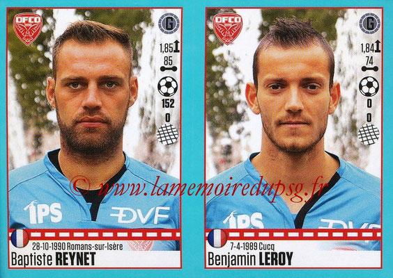 2016-17 - Panini Ligue 1 Stickers - N° 188 + 189 - Baptiste REYNET + Benjamin LEROY (Dijon)