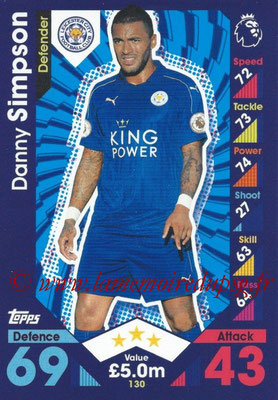 2016-17 - Topps Match Attax Premier League - N° 130