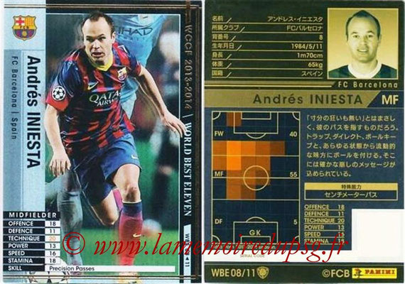 2013-14 - WCCF - N° WBE08 - Andrés INIESTA (FC Barcelone) (World Best Eleven)