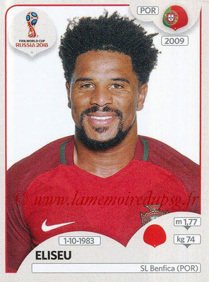 2018 - Panini FIFA World Cup Russia Stickers - N° 118 - ELISEU (Portugal)