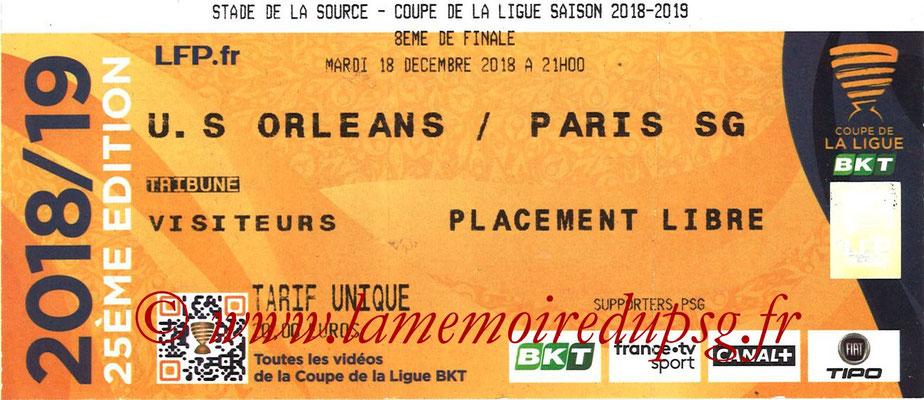 Ticket  Orléans-PSG  2018-19