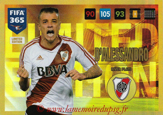 2016-17 - Panini Adrenalyn XL FIFA 365 - N° LE02 - Andres D'ALESSANDRO (CA River Plate) (Limited Edition)
