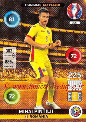 Panini Euro 2016 Cards - N° 306 - Mihai PINTILII (Roumanie) (Key Player)
