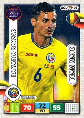 2018 - Panini Road to FIFA World Cup Russia Adrenalyn XL - N° ROU03 - Romario BENZAR (Roumanie)