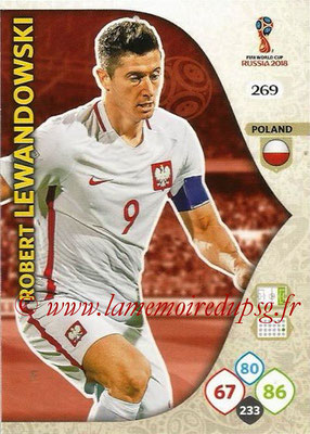 2018 - Panini FIFA World Cup Russia Adrenalyn XL - N° 269 - Robert LEWANDOWSKI (Pologne)