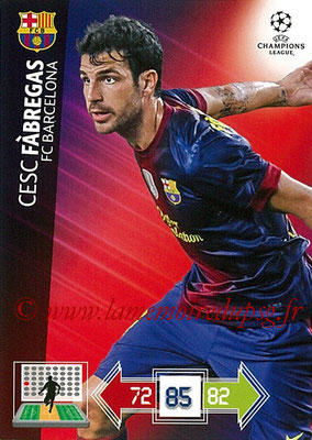 2012-13 - Adrenalyn XL champions League N° 035 - Cesc FABREGAS (FC Barcelone)