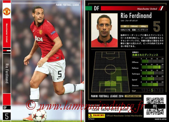 Panini Football League 2014 - PFL07 - N° 054 - Rio FERDINAND (Manchester United)