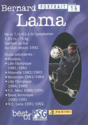 N° 016 - Bernard LAMA (Verso)