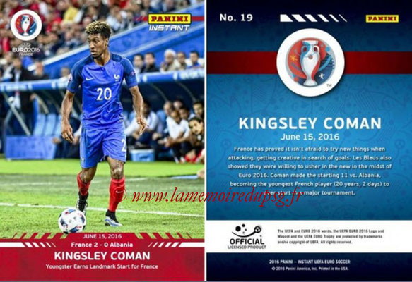 N° 019 - Kingsley COMAN (2012-14, PSG > 2016, France)