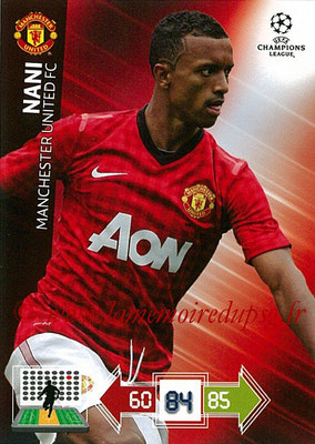 2012-13 - Adrenalyn XL champions League N° 143 - NANI (Manchester United FC)