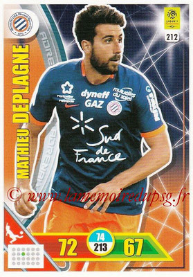 2017-18 - Panini Adrenalyn XL Ligue 1 - N° 212 - Mathieu DEPLAGNE (Montpellier)