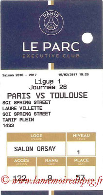 Tickets  PSG-Toulouse  2016-17