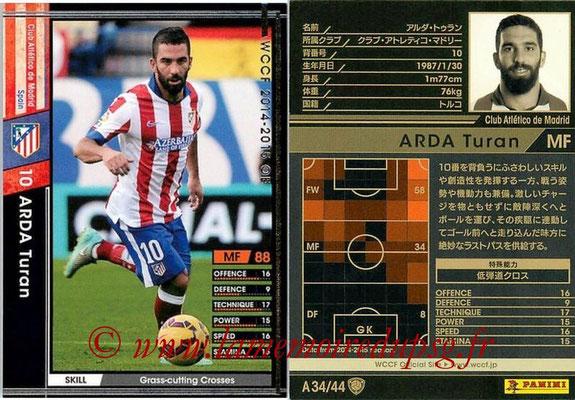 2013-14 - WCCF - N° A34 - Arda TURAN (Atletico Madrid)