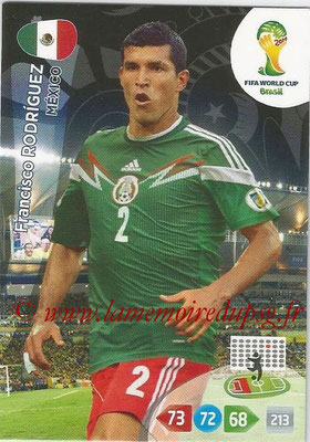 2014 - Panini FIFA World Cup Brazil Adrenalyn XL - N° 244 - Fransisco RODRIGUEZ (Mexique)