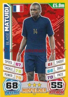 Topps Match Attax England 2014 - N° 111 - Blaise MATUIDI (France)