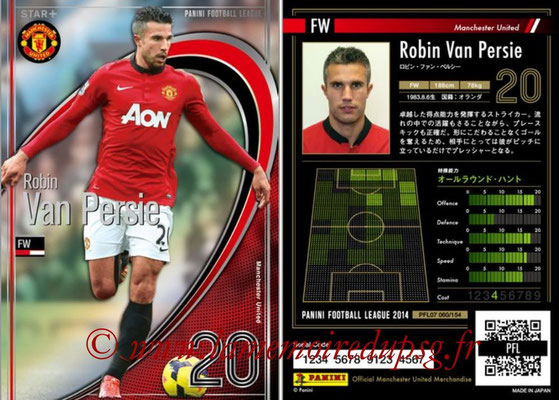 Panini Football League 2014 - PFL07 - N° 060 - Robin VAN PERSIE (Manchester United) (Star +)