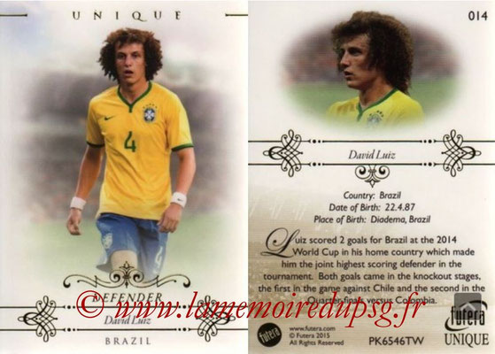 N° 014 - David LUIZ (2014,??, PSG > 2015, Brésil) (Defender)
