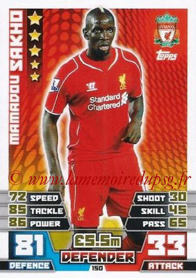 N° 150 - Mamadou SAKHO (2007-13, PSG > 2014-15, Liverpool, Ang)
