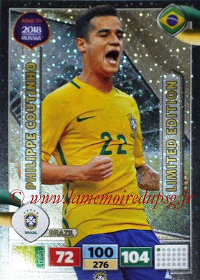 2018 - Panini Road to FIFA World Cup Russia Adrenalyn XL - N° LE-PC - Philippe COUTINHO (Brésil) (Limited Edition)