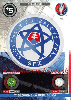 Panini Euro 2016 Cards - N° 352 - Logo de Slovenie (Team Logo)