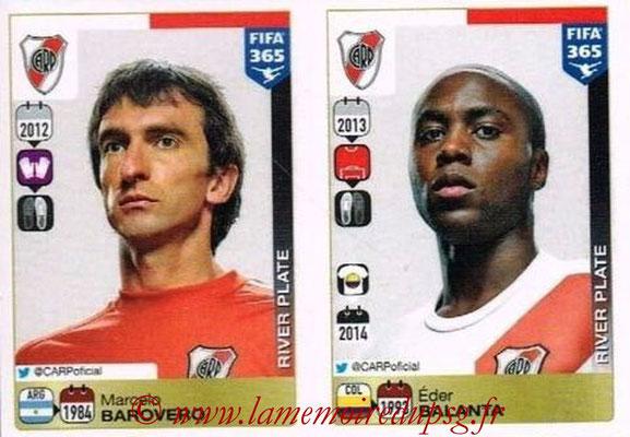 2015-16 - Panini FIFA 365 Stickers - N° 102-103 - Marcelo BAROVERO + Eder BALANTA (River Plate)