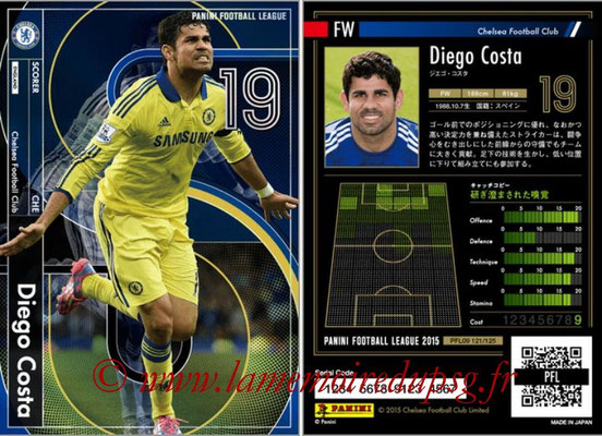 Panini Football League 2015 - PFL09 - N° 121 - Diego COSTA (Chelsea FC) (Scorer)