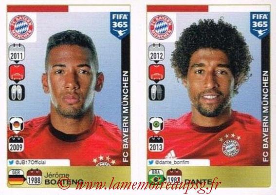 2015-16 - Panini FIFA 365 Stickers - N° 466-467 - Jérôme BOATENG + DANTE (FC Bayern Munich)