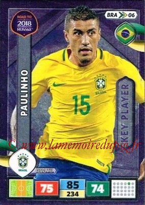 2018 - Panini Road to FIFA World Cup Russia Adrenalyn XL - N° BRA06 - PAULINHO (Brésil) (Key Player)