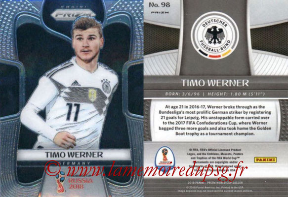 2018 - Panini Prizm FIFA World Cup Russia - N° 098 - Timo WERNER (Allemagne)