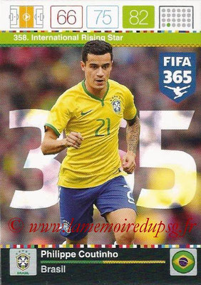 2015-16 - Panini Adrenalyn XL FIFA 365 - N° 358 - Philippe COUTINHO (Brésil) (International Rising Star)