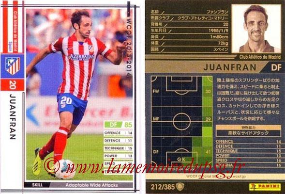 2013-14 - WCCF - N° 212 - JUANFRAN (Atletico Madrid)