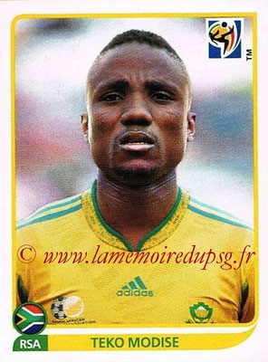 2010 - Panini FIFA World Cup South Africa Stickers - N° 041 - Teko MODISE (Afrique du Sud)