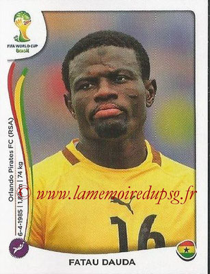 2014 - Panini FIFA World Cup Brazil Stickers - N° 528 - Fatau DAUDA (Ghana)