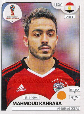 2018 - Panini FIFA World Cup Russia Stickers - N° 084 - Mahmoud KAHRABA (Egypte)