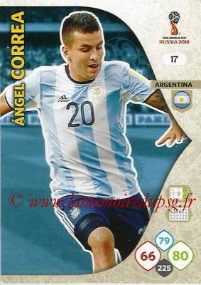 2018 - Panini FIFA World Cup Russia Adrenalyn XL - N° 017 - Angel CORREA (Argentine)