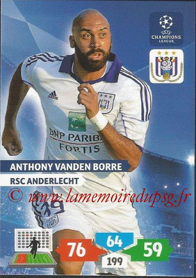 2013-14 - Adrenalyn XL champions League N° 040 - Anthony VANDEN BORRE (RSC Anderlecht)