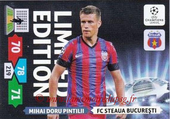 2013-14 - Adrenalyn XL champions League N° LE56 - Mihai Doru PITILII (FC Steaua Bucarest) (Limited Edition)