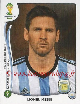 2014 - Panini FIFA World Cup Brazil Stickers - N° 430 - Lionel MESSI (Argentine)